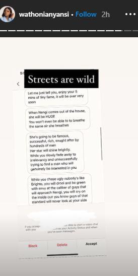 wathoni threats