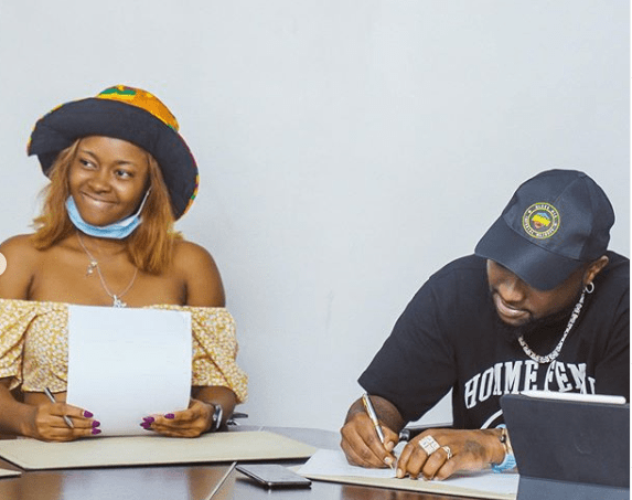 Davido signs first female artiste