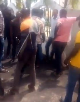 dino house2 Youths Hinder Hoodlums From Looting And Burning Dino Melaye's House (Video)