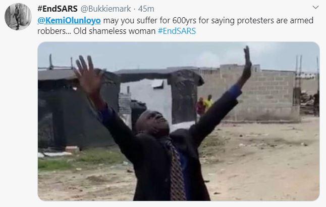 kemi olunloyo protesting