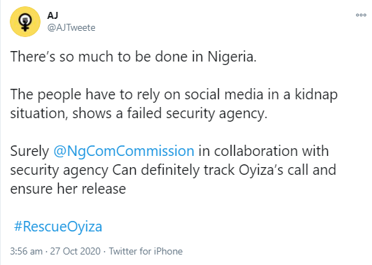 tweets about Oyiza