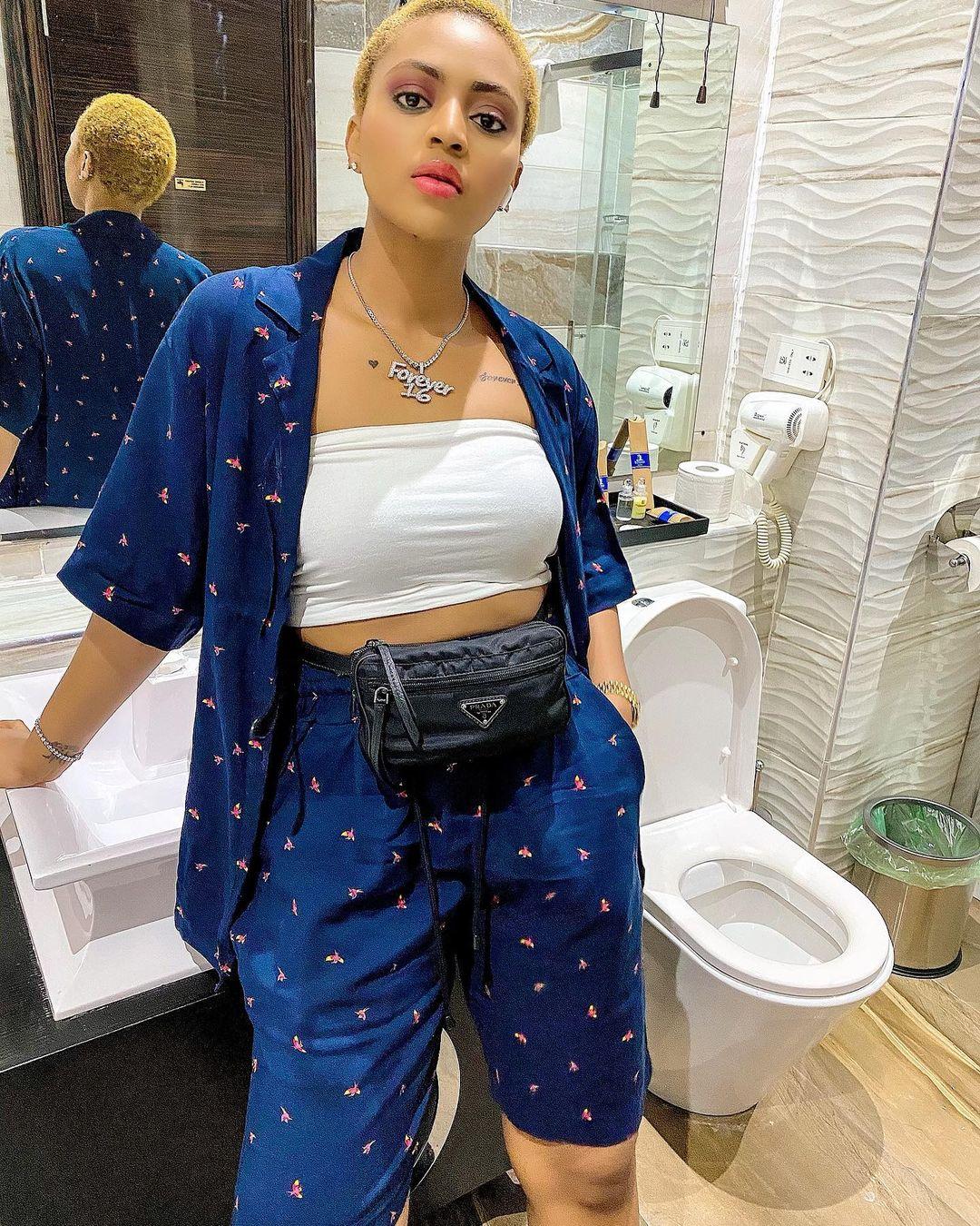 regina daniels bathroom
