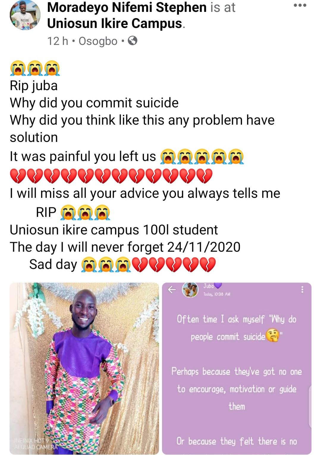 student commits