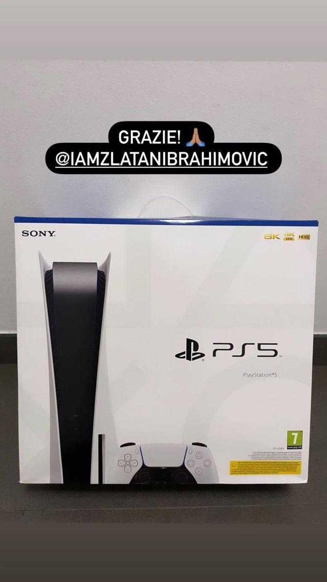 Zlatan Ibrahimovic buys PS5 for Each of His AC Milan team-mates