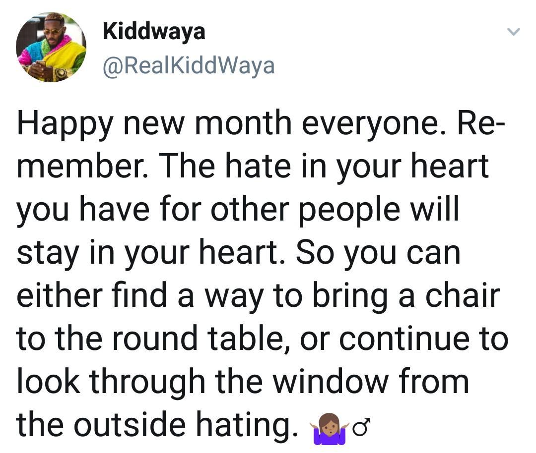 Kiddwaya throws shade