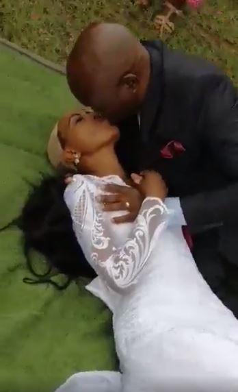 bride's wig fall
