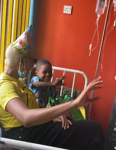 Nancy Isime visits kids