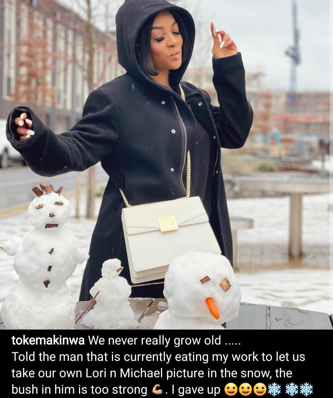 Toke Makinwa replies