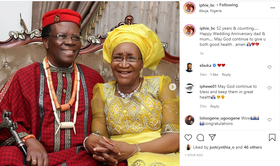 ebuka parents celebrate