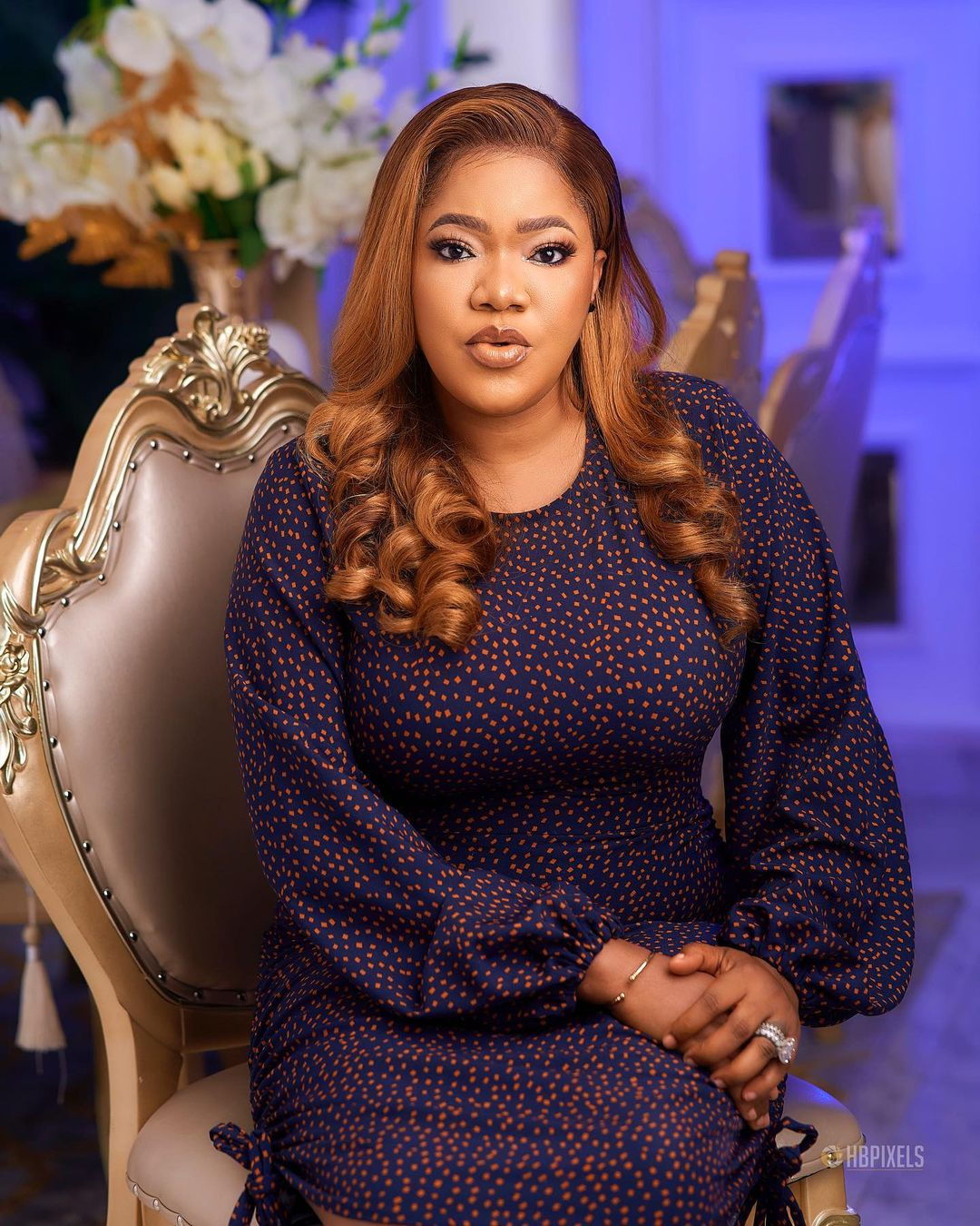 Toyin Abraham splashes