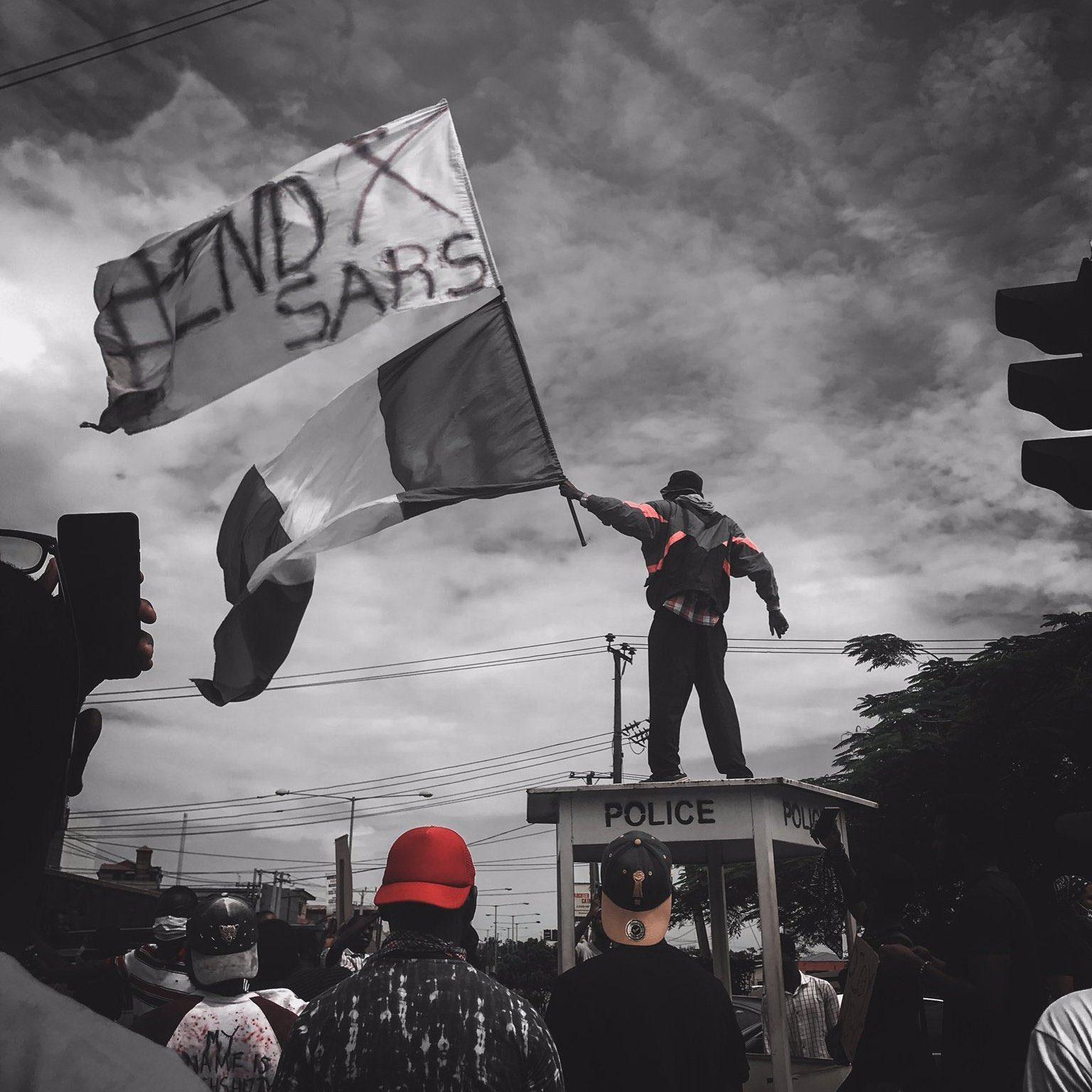 #EndSARS Flag Holder's last tweet