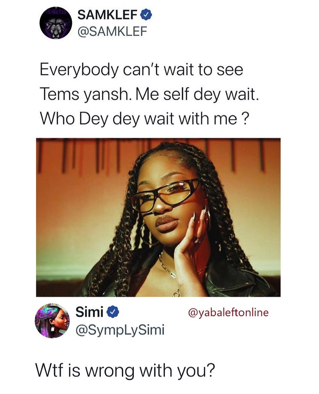 """""""You are a snake, ingrate"""" – Samklef blasts Simi for 'disrespecting' him over his tweet about Tems (video) 1"""