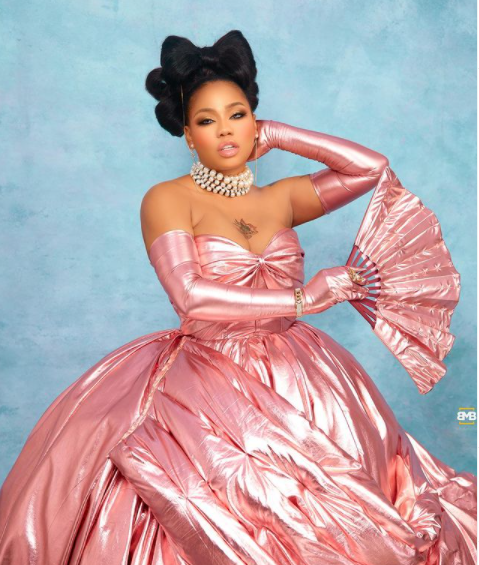 Toyin Lawani goes topless as she celebrates her 39th birthday in a grand style 3