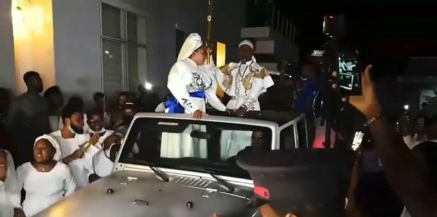 Toyin Abraham epic entrance