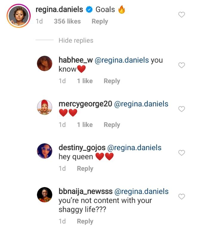 """""""Are you not content with your life?"""" – Fans tackle Regina Daniels over comment on Mercy Eke 4"""