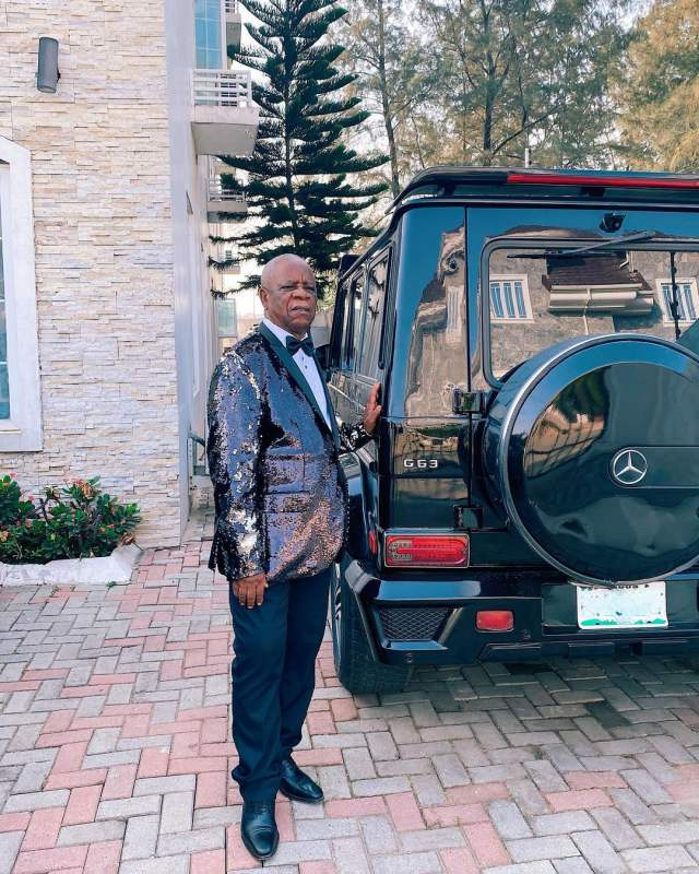 Linda Ikeji's father receives