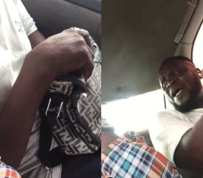 """""""My body is my body"""" – Nigerian Man caught masturbating in commercial vehicle beats woman who filmed and challenged him (video)"""