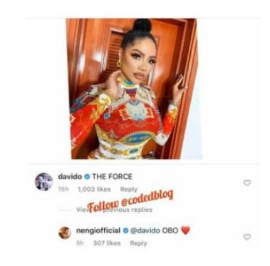 Nengi and Davido 'flirt'