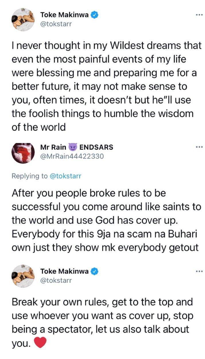 Toke Makinwa tackles