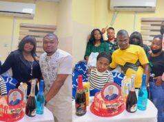 Ada Jesus celebrates