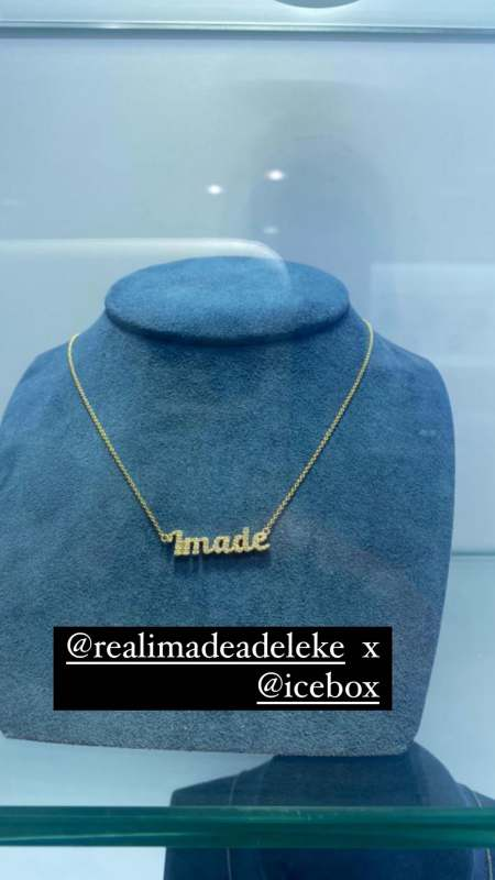 Davido gifts daughter Imade a customized jewelry worth millions of naira