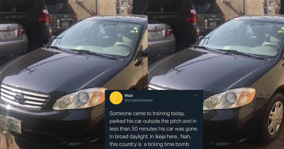 Man's car gets stolen in Ikeja after he parked it to play football