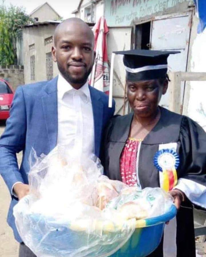 Man Honors Bread Seller Mother With His Graduation Gown
