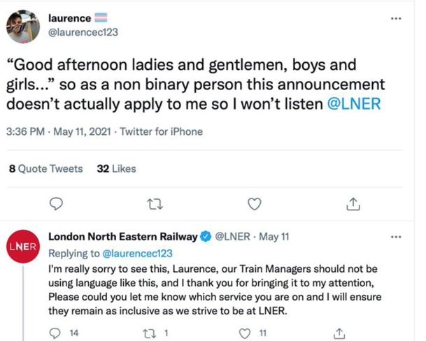 Train firm apologises
