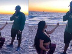 pregnant lady kneels