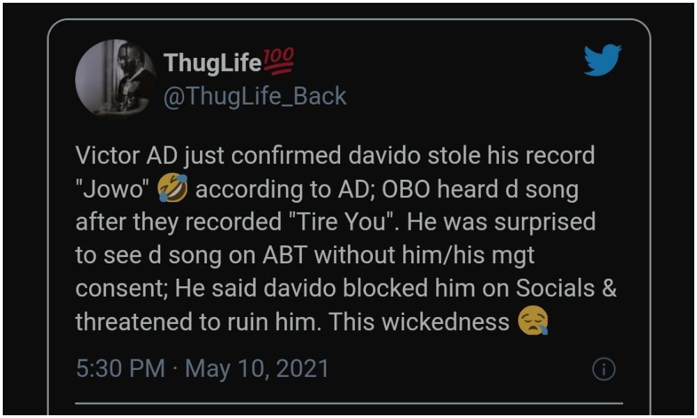 man accuses Davido