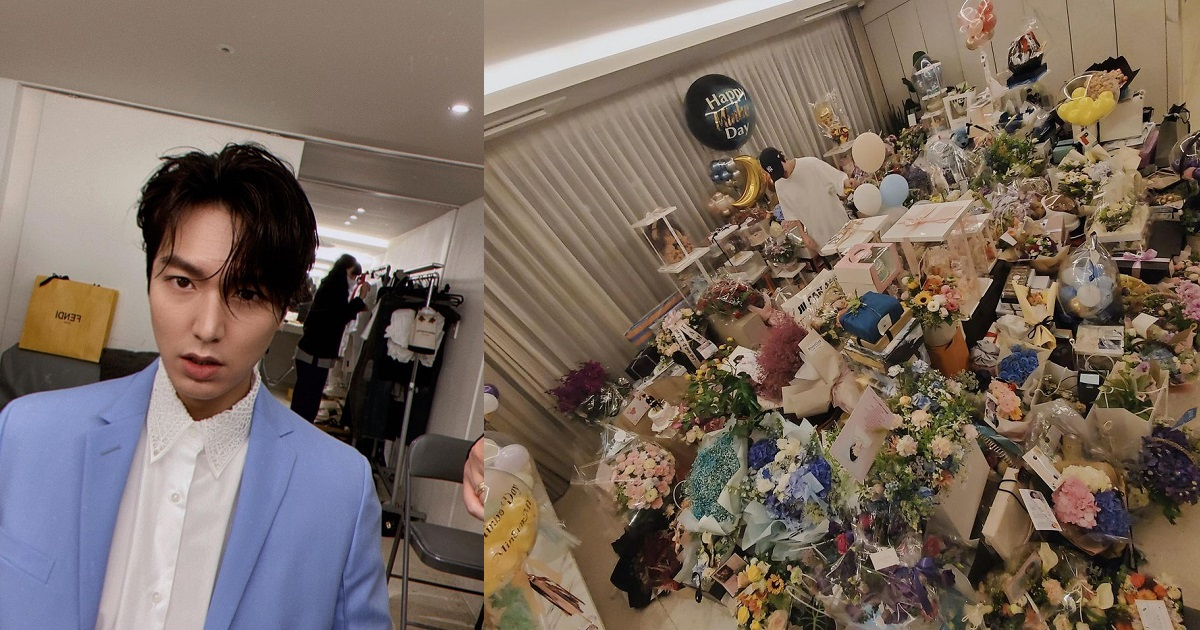 South Korean actor, Lee Min-Ho, shows off the gifts he received on his 34th birthday - YabaLeftOnline