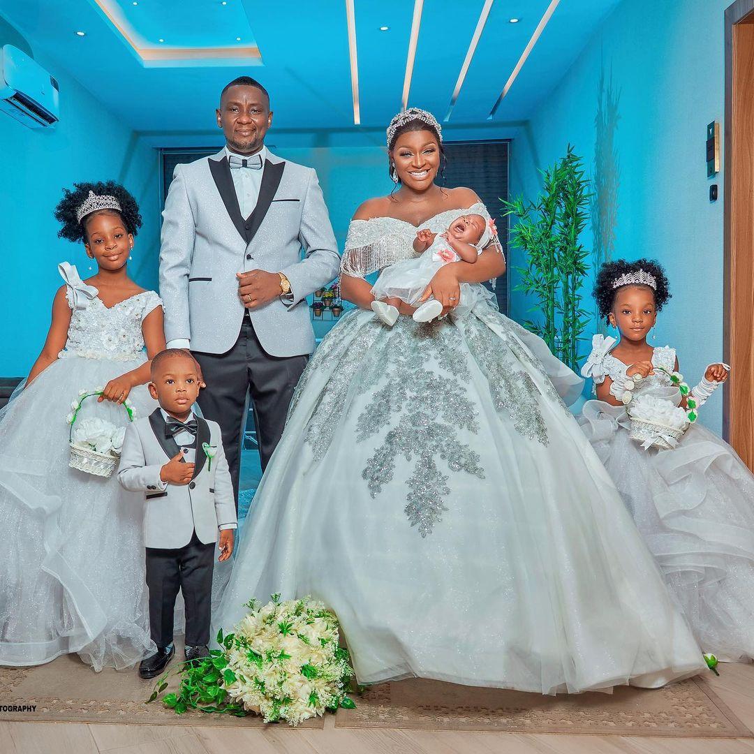 Chacha Eke Faani and husband celebrate