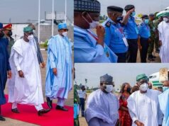 President Buhari arrives
