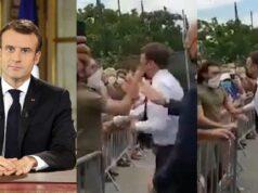 Emmanuel Macron was slapped