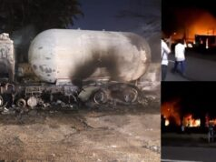 gas tanker explodes