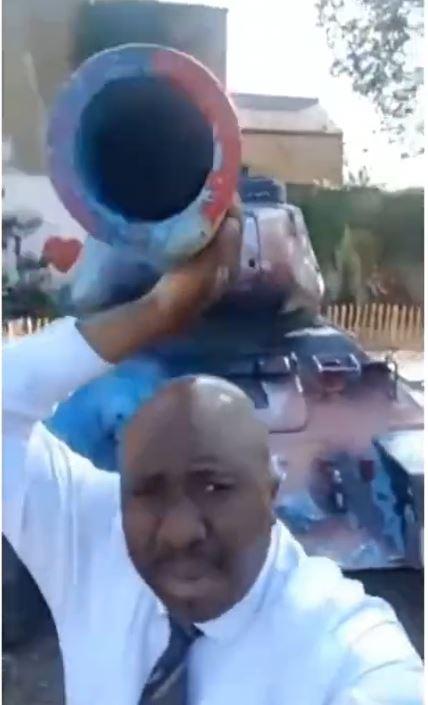 Nigerian man buys armoured tank