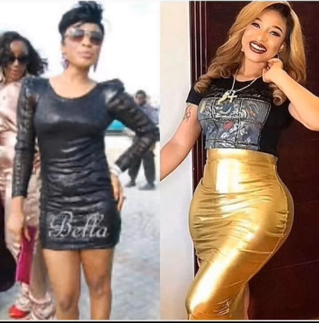 Tonto Dikeh reveals why she went under the knife as she shares photos of her body before and after surgery