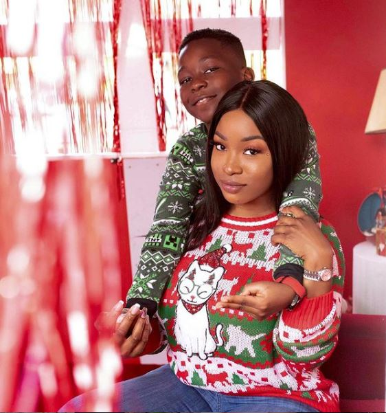 Adorable photos of new housemate Jackie B and her son
