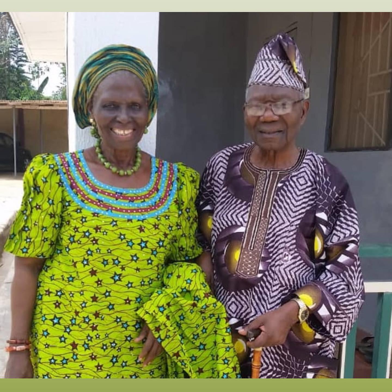 Nigerian couple celebrate